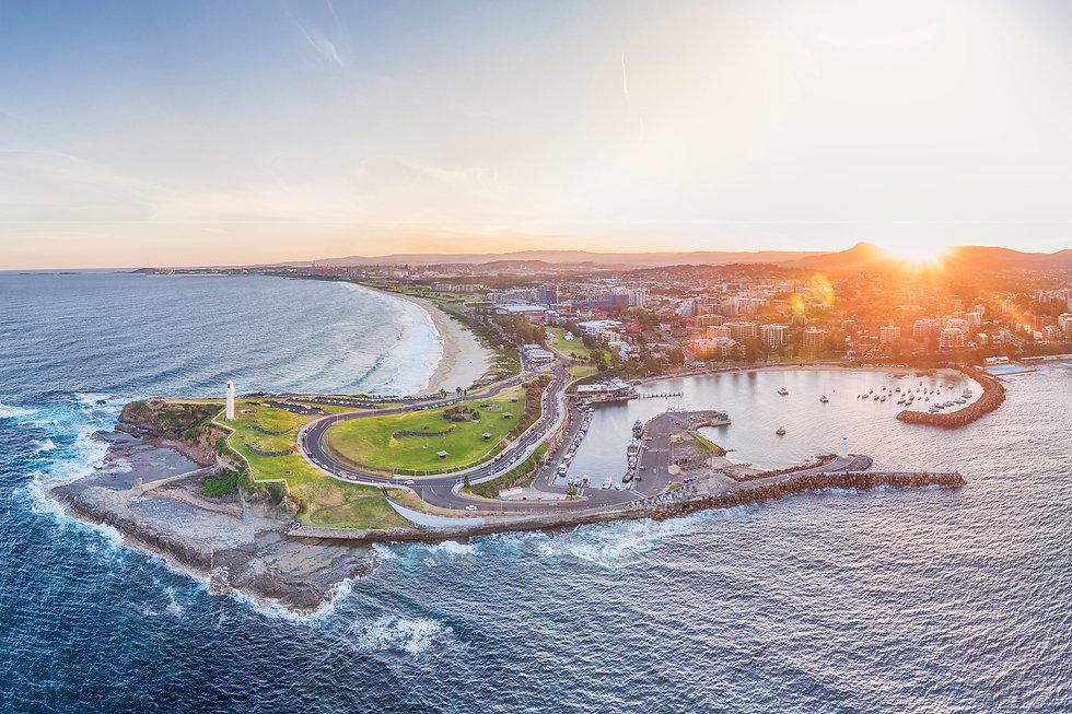Wollongong Sunset Aerial_Kramer Photogra