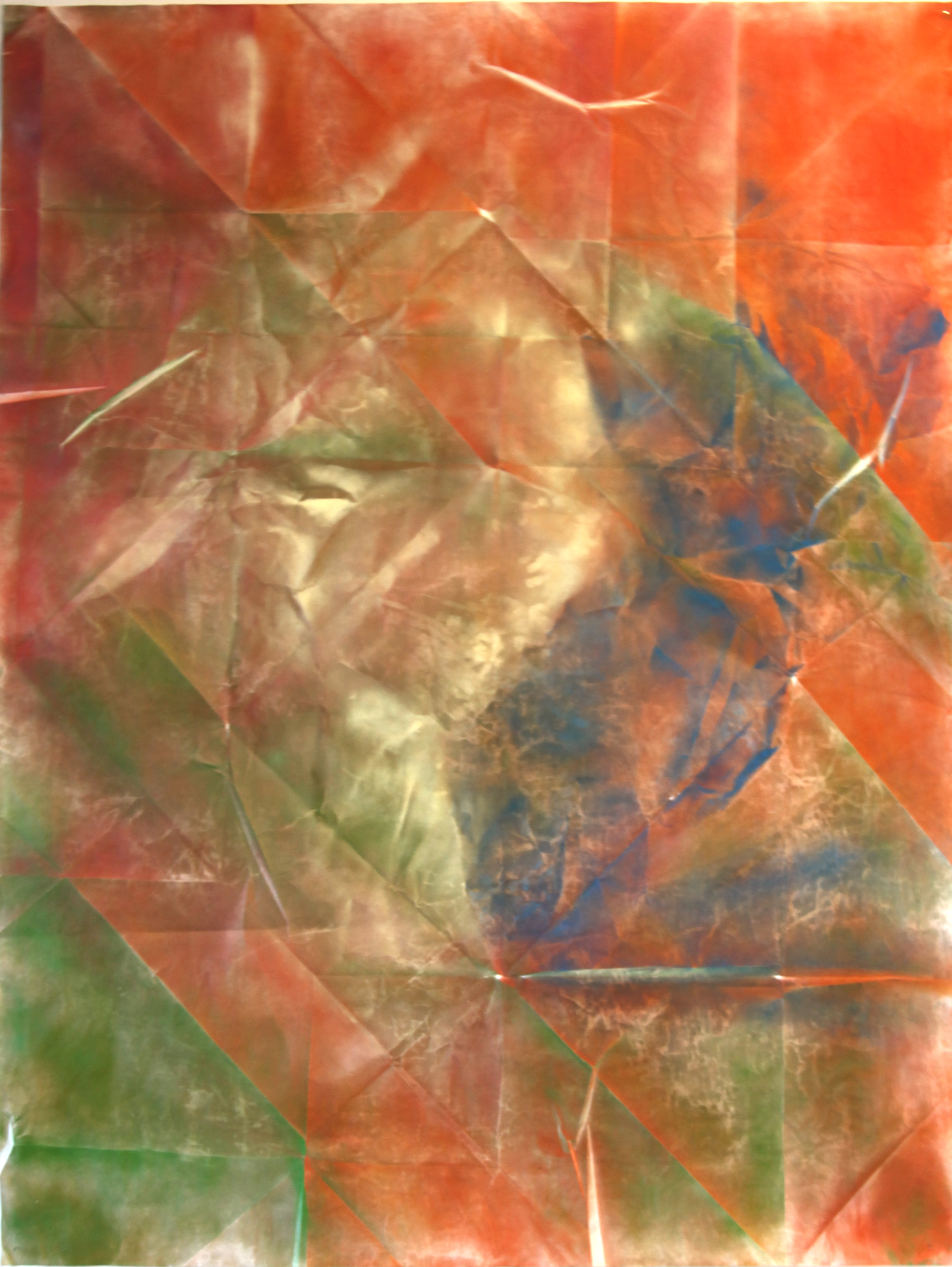Composition in Orange and Green