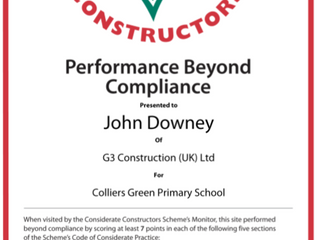 Monitor's Site Report Results - Collier's Green Primary School (Considerate Constructors Sch