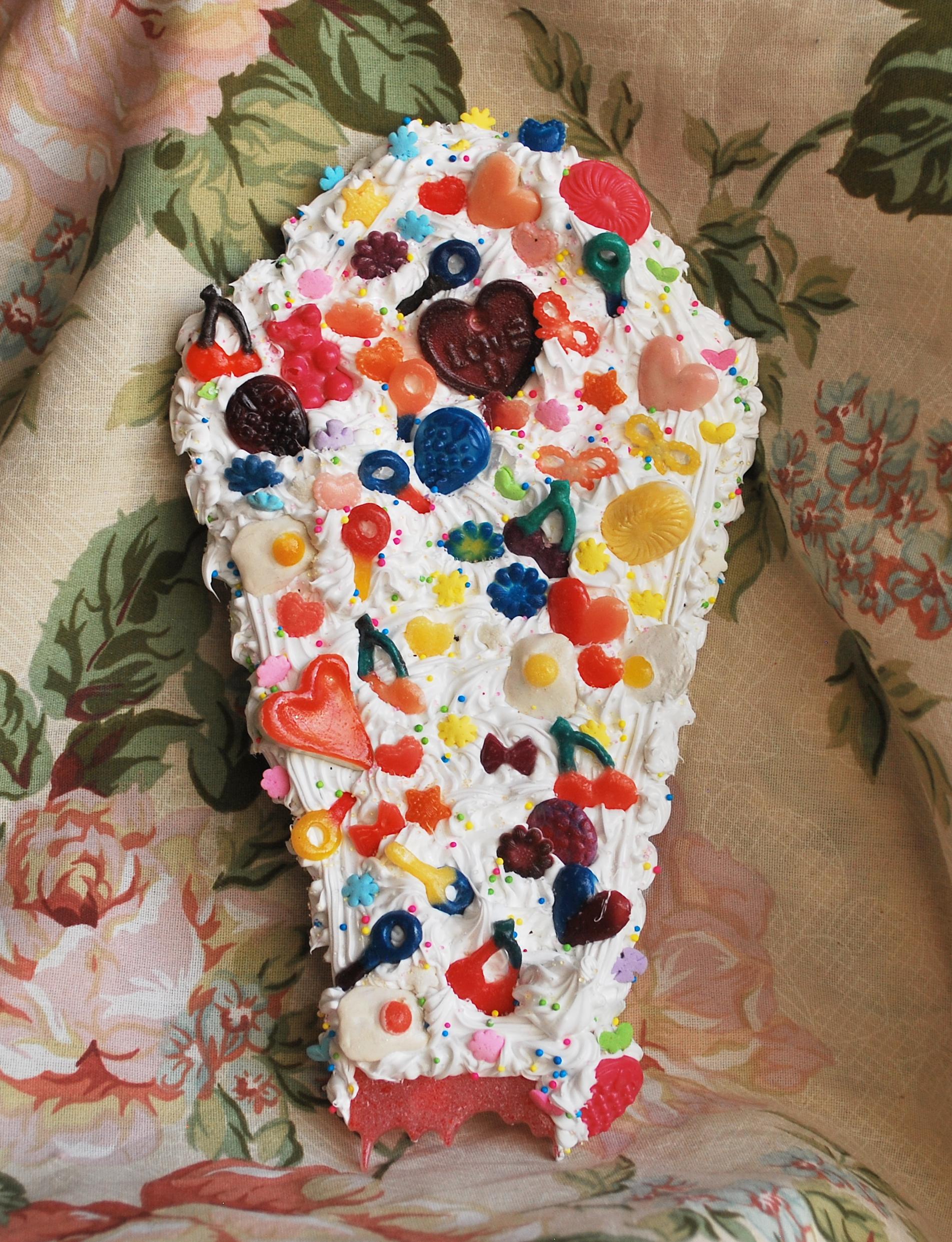 Cream Candy Coffin