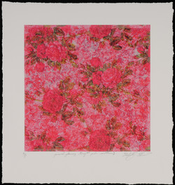 funeral flowers (bright pink)