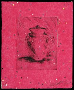 small urn (pink glitter)