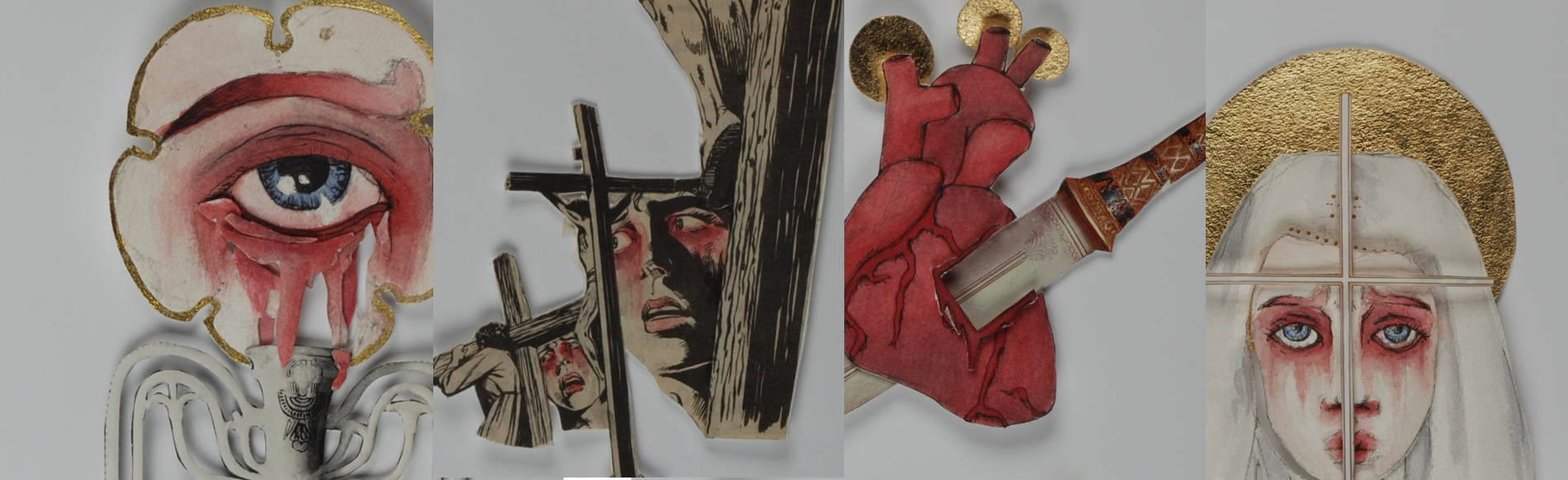 The Mother of Christ Collages
