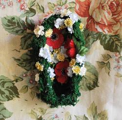 Poppy Coffin Arrangement