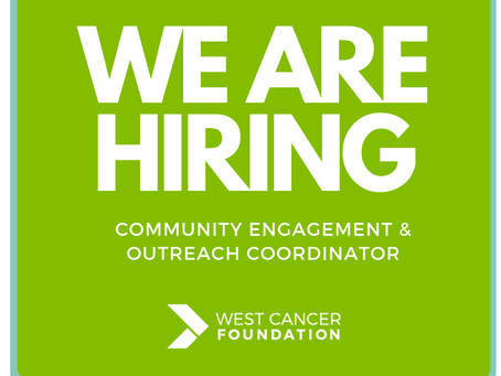 West Cancer Foundation is hiring!