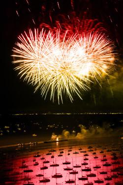 Fireworks over Monroe Harbor
