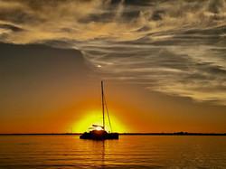 Sunset anchor ...