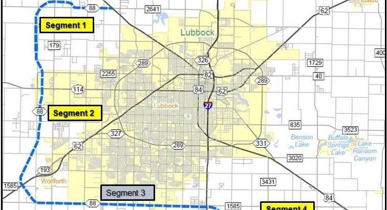 Location: Lubbock's New Loop 88, Coming 2030.