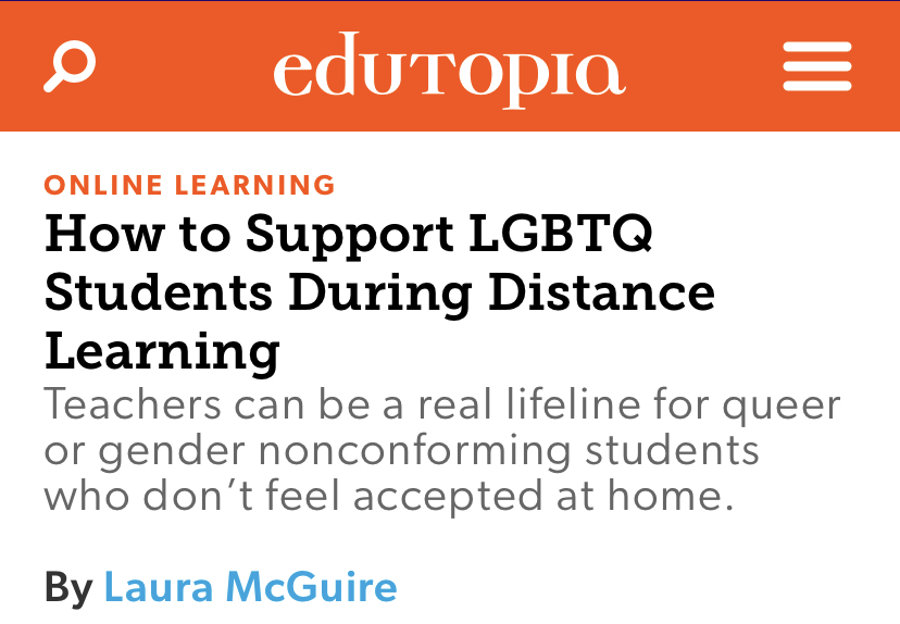 How to Support LGBTQ Students During Distance Learning