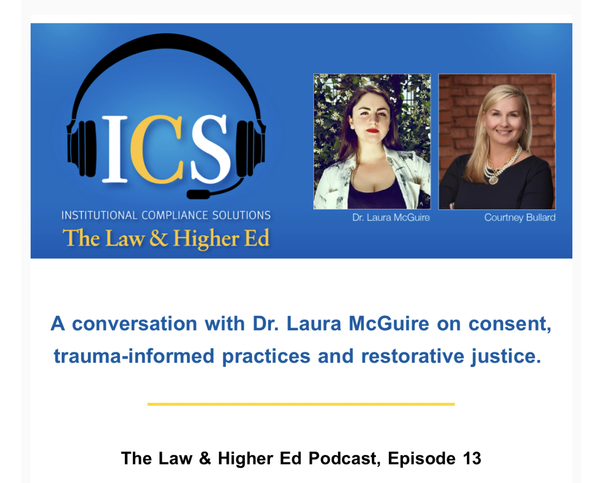 Episode 13: Dr. Laura McGuire on con