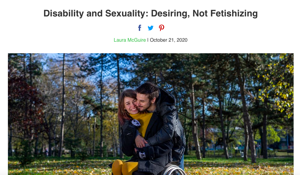Disability and Sexuality: Desiring, Not Fetishizing
