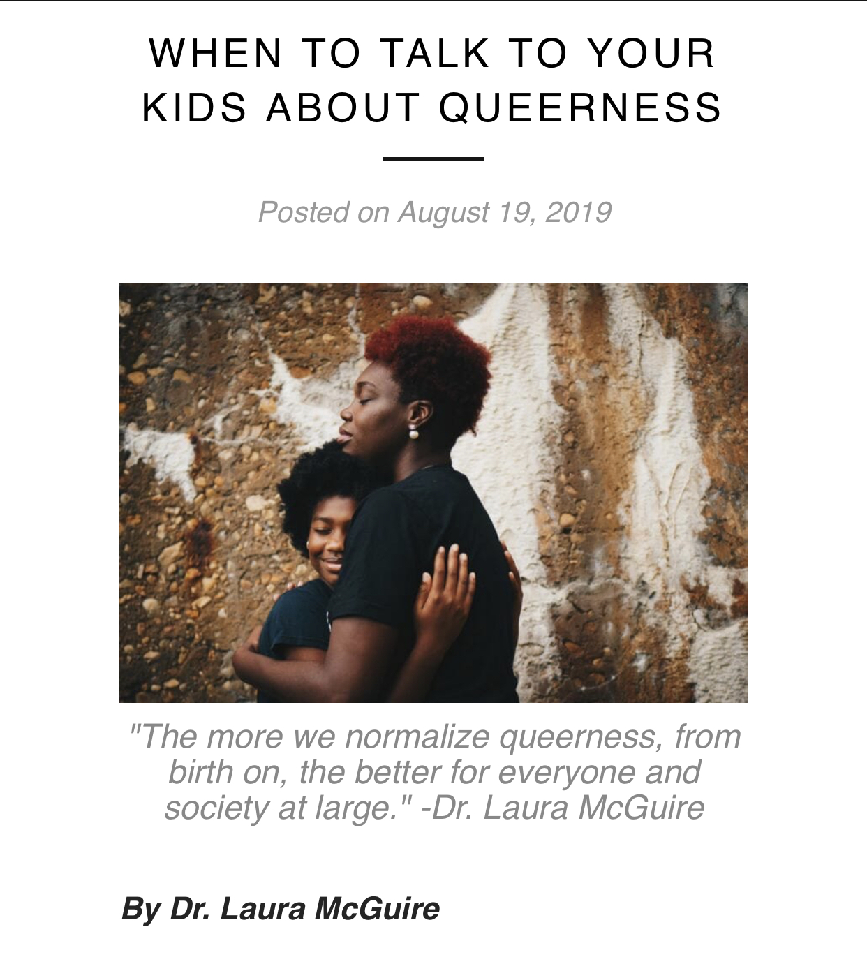 When to talk to kids about Queerness