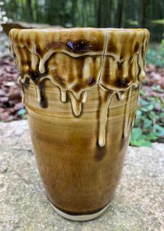 Tenmoku Candle Vase