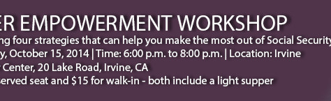 October Empowerment Workshop Oct. 15, 2014