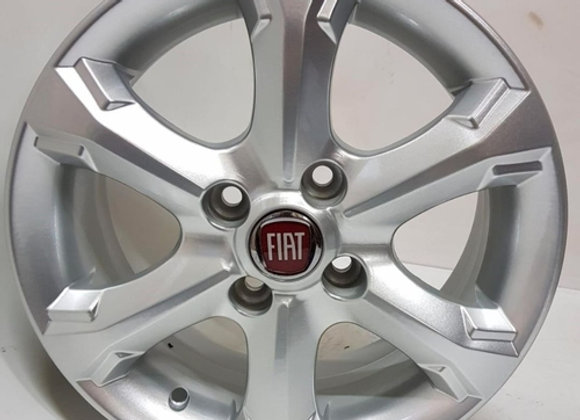 Jogo 4 rodas Fiat Strada Working aro 14 4x98 prata tala 6 ET40