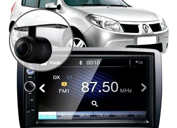 Central Multimídia Mp5 Sandero Câmera Espelhamento Android