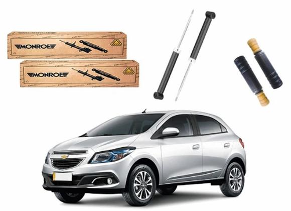 Kit Amortecedor Traseiro Monroe Chevrolet Onix 1.0 1.4 2013 a 2016
