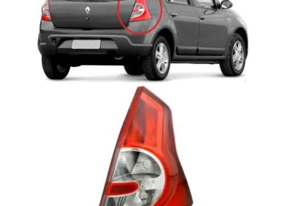 Lanterna Traseira Renault Sandero 2007/2011 - Bicolor - Ré Cristal - Acrílico -