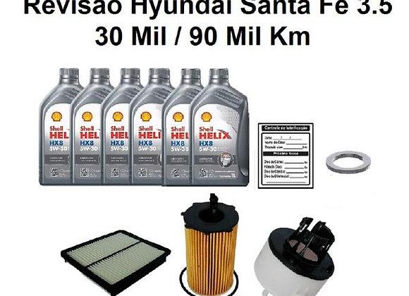 KIT REVISÃO HYUNDAI SANTA FÉ 3.5 30 ou 90 MIL KM