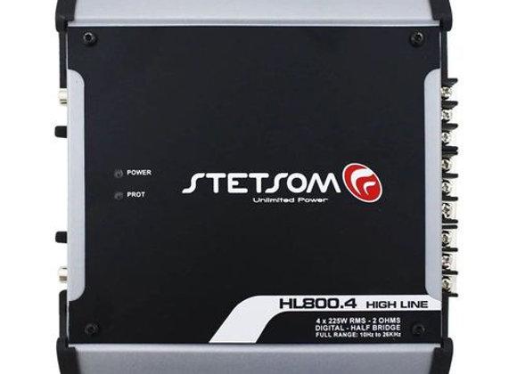 Módulo Stetsom Hl800.4 900w Rms 4 Canais 2 Ohms Amplificador Digital Som Automot