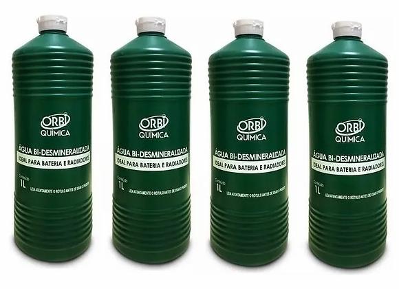 4 Água Bi Desmineralizada Radiador E Bateria Orbi Kit 4 Unid