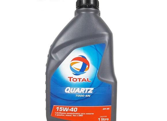 Óleo de Motor Total Quartz 7000 15w40 API Sn Semisintetico 1L