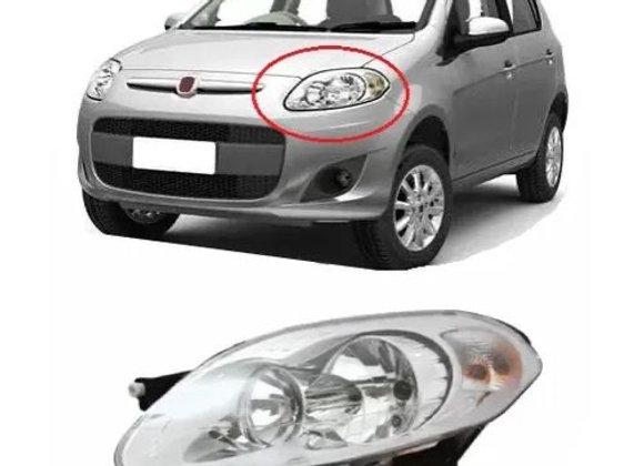 Farol Dianteiro Fiat Palio Attractive 2012/2015 - Foco Duplo - Máscara Cromada -
