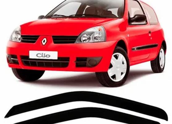 CALHA DE CHUVA 2 PORTAS CLIO HATCH 2004 ATÉ 2015