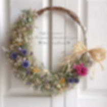 Dried flower wreath  販売中_【限定1点  直径  約30㎝
