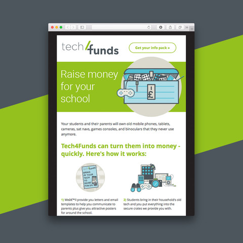 Tech Funds email design