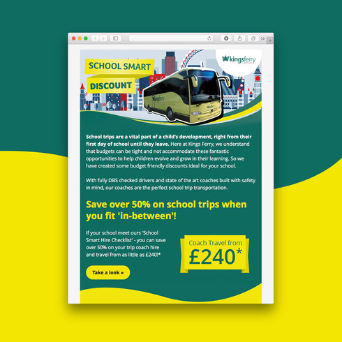 Kingsferry Coaches email design