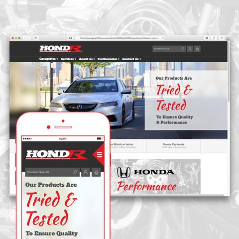 Hond-R website design