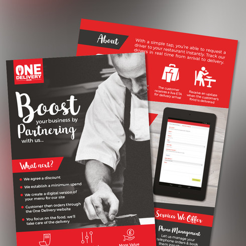 One Delivery leaflet