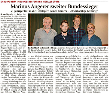 2. Bundessieger: Marinus Angerer