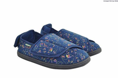 Ladies Slipper - Charlotte Blue Size 6
