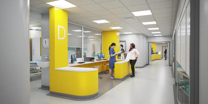 Sheffield Northern General Hospital Trauma Ward S5        I        HPDA Architects
