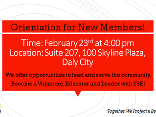 Orientation for new members!
