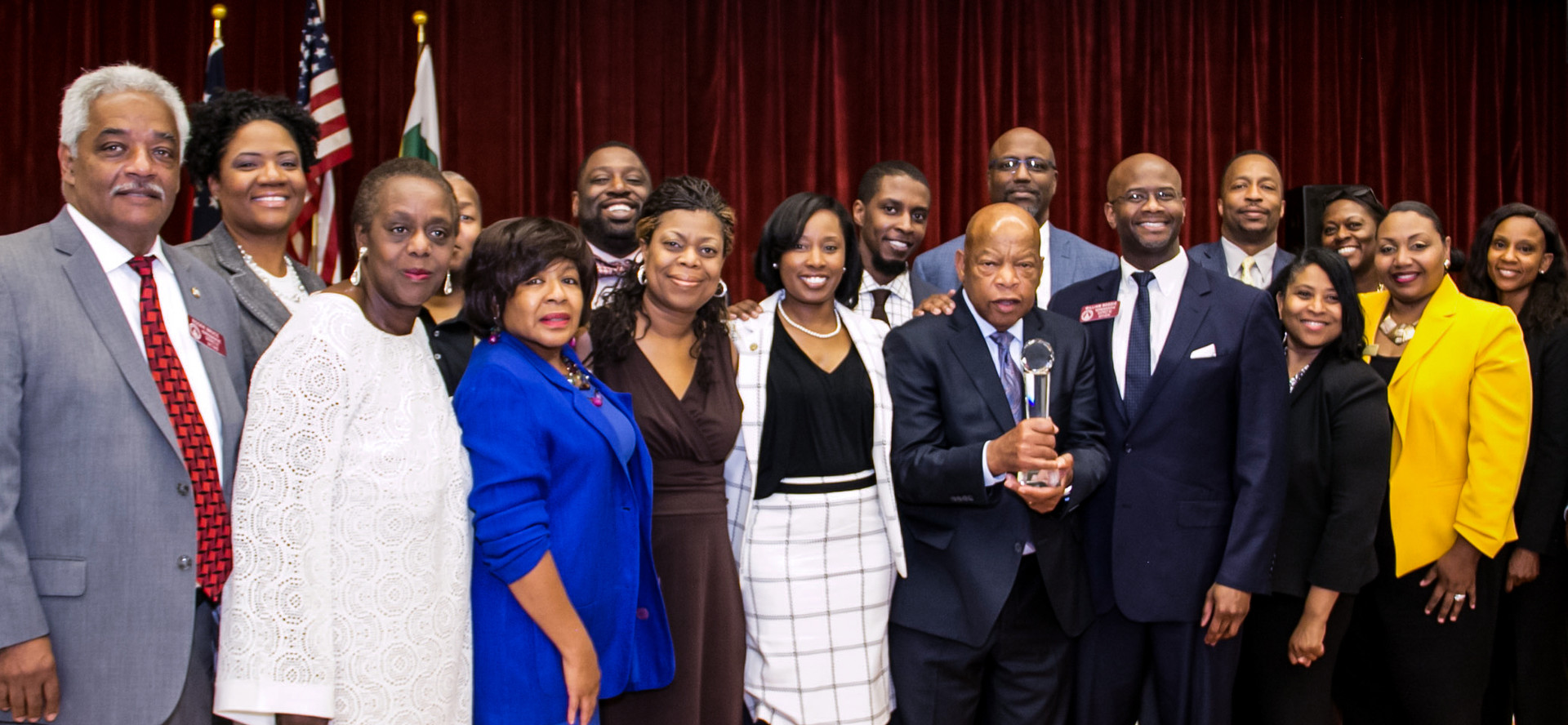 Congressman John Lewis with City and State Officials