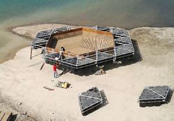 montage piscine flottante