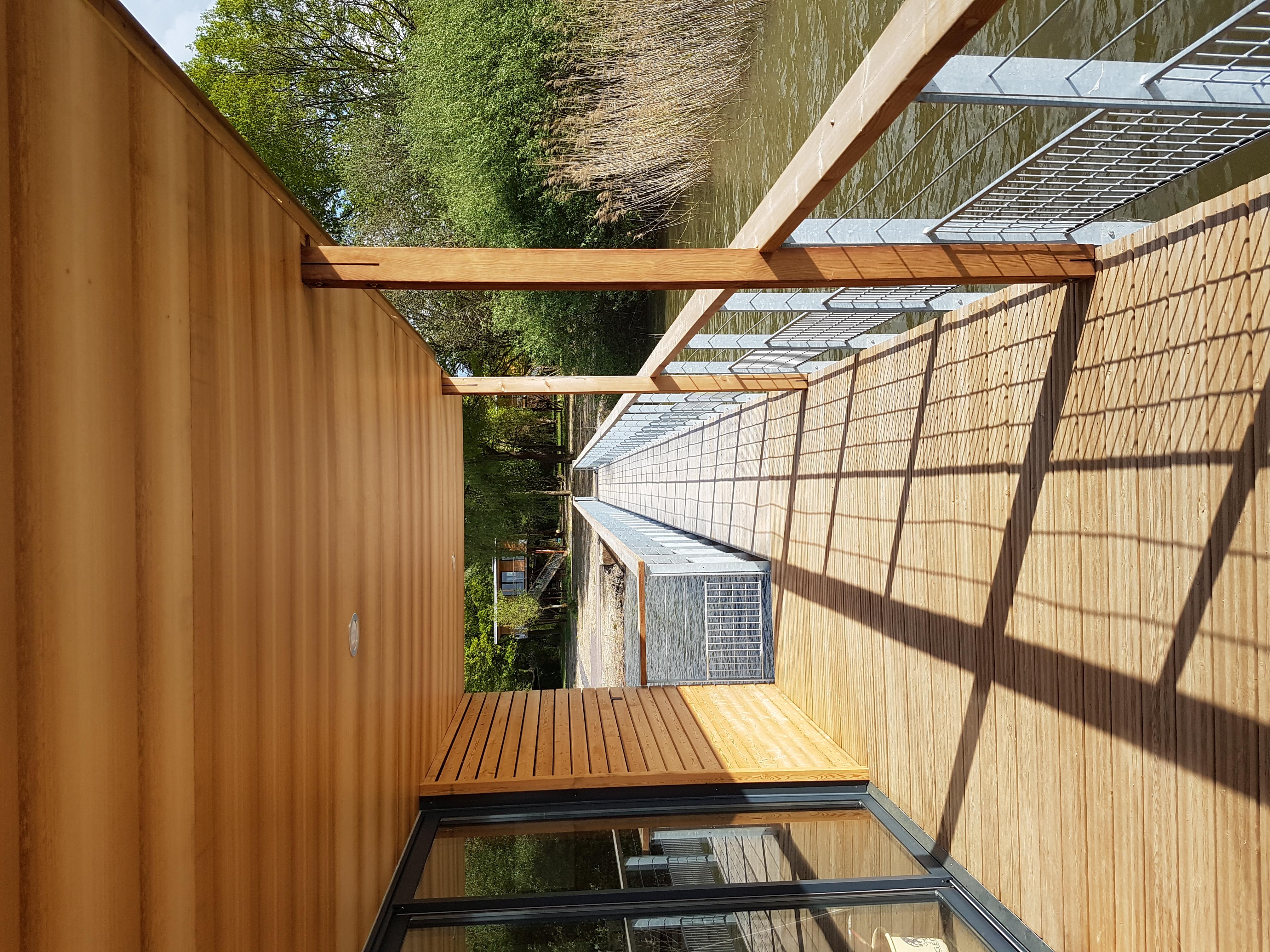 accès maison flottante Langatte