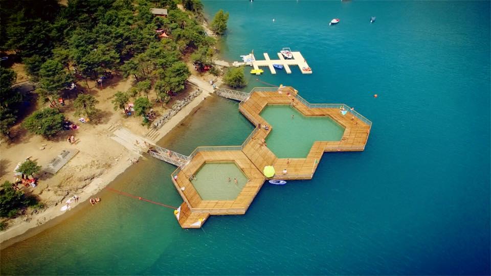 piscines flottantes Serre Ponçon