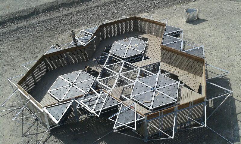 chantier structure flottante
