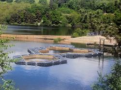 chantier piscine flottante Aurillac