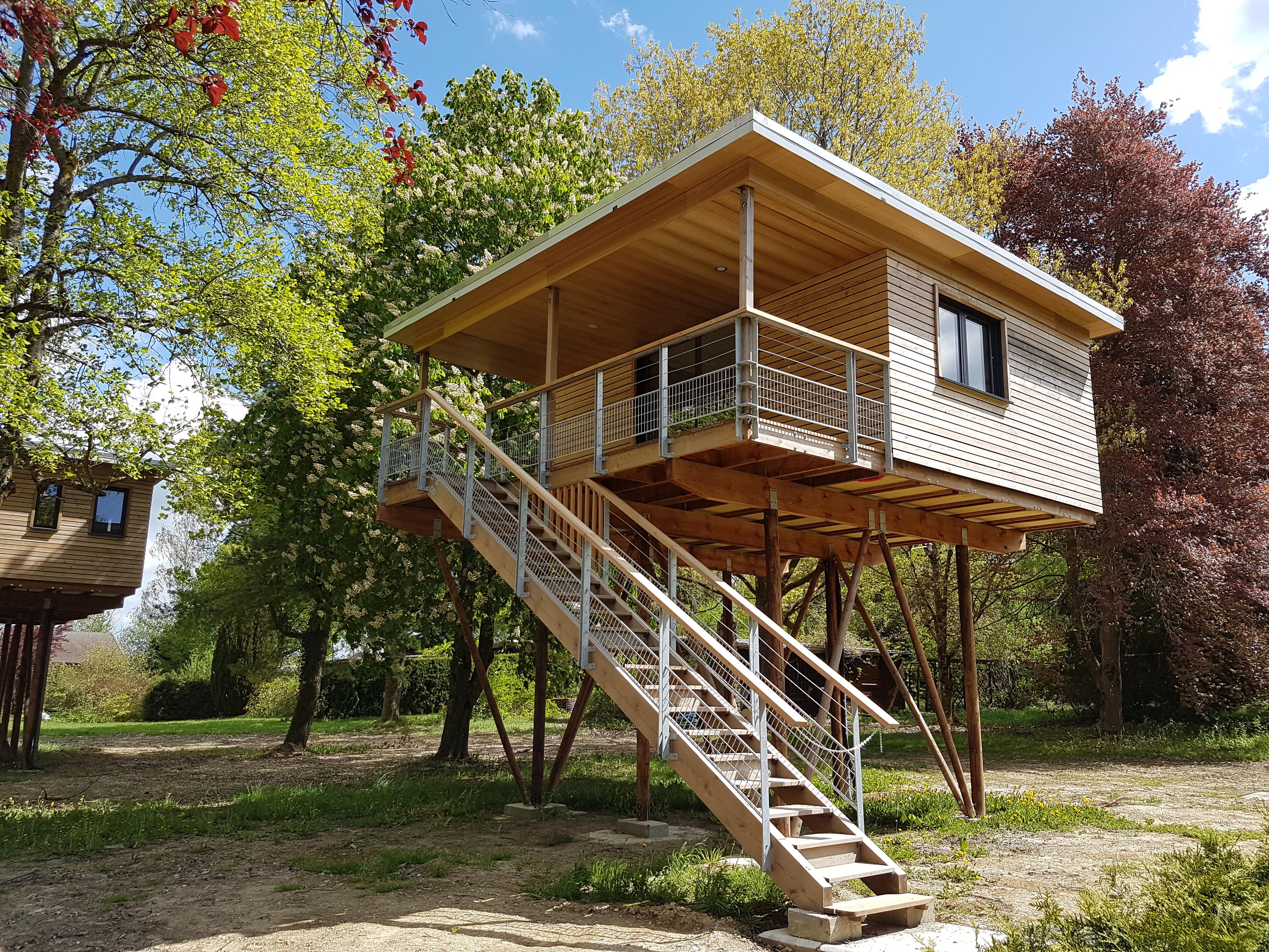 maison dans les arbres Langatte