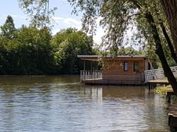 maison flottante sur la Saône