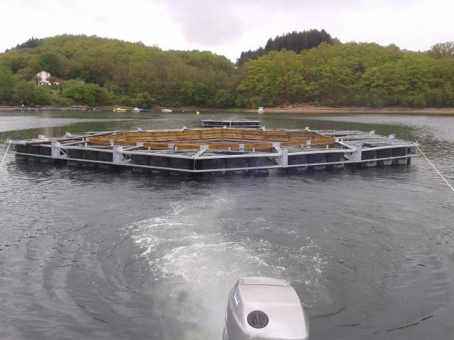 remorquage piscine flottante