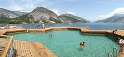 piscine flottante serre poncon