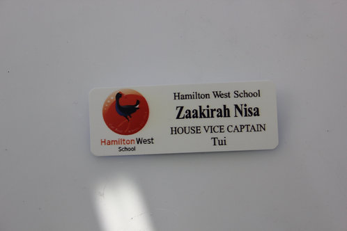 Name badge - Magnetic clip NO resin coating
