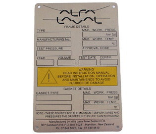 Assorted Labels e.g. electrical