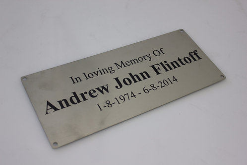 Stainless Steel plaque - Customised to suit